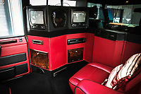 BNPS.co.uk (01202 558833)<br /> Pic: Silverstone/BNPS<br />  <br /> State of the art 1990's tech allows multiple tv's to show different channels through Sony headsets.<br /> <br />  to be watchedLong Range Rover...<br /> <br /> A unique stretched Range Rover that was first owned by the Sultan of Brunei and later used to ferry Mike Tyson around has emerged for sale for £25,000.<br /> <br /> The 1994 Range Rover Classic LSE was turned into a limousine version by a specialist firm with the work commissioned by the then owner, the Sultan of Brunei.<br /> <br /> The monarch ordered the unique motor for his younger brother, Prince Jefri, with the work costing a whopping £135,000.<br /> <br /> The huge rear cabin had three large and luxurious seats and two TV sets.<br /> <br /> In 2000 boxer Mike Tyson was driven in it around Glasgow before fight with Lou Savarese at Hampden Park.