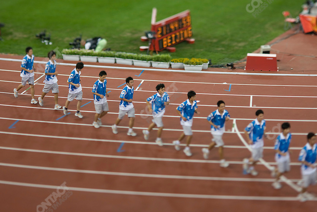 Olympic Volunteers,National Stadium, Summer Olympics, Beijing, China, August 20, 2008