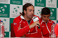 MEDELLIN - COLOMBIA - 05-04-2017: Nicolas Massu, Capitan del equipo de Chile, durante rueda de prensa en la presentación de una de las dos confrontaciones de la ronda final del Grupo I de la Zona Americana de la Copa Davis por BNP Paribas. / Nicolas Massu, captain of the Chilean team during a press conference in the presentation of one of the two confrontations of the final round of Group I of the American Zone Cup Davis by BNP Paribas./ Photo: VizzorImage / Leon Monsalve / Cont.