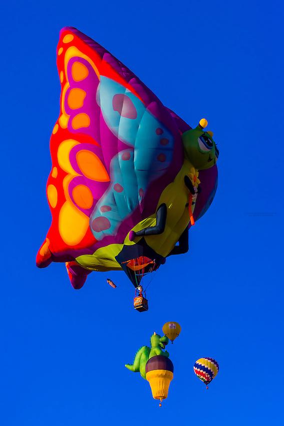 Special shape balloons, Albuquerque International Balloon Fiesta, Albuquerque, New Mexico USA.