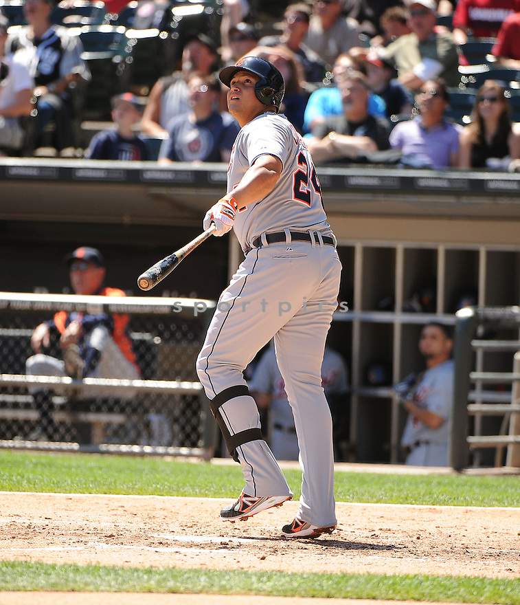 Detroit Tigers Miguel Cabrera (24) during a game against the Chicago White Sox on August 14,  2013 at US Cellular Field in Chicago, IL. The Tigers beat the White Sox 4-3.