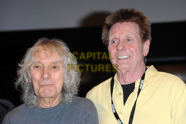 LONDON, UK, MARCH 01: Albert Lee &amp; Joe Brown on stage ahead of Albert Lee's 70th Anniversary Concert at Cadogan Hall on March 1, 2014 in London, United Kingdom.<br /> CAP/CJ<br /> &copy;Chris Joseph/Capital Pictures