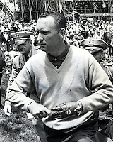 Billy Casper walks off the 18th green after winning the U.S. Open at the Olympic Club in San Francisco in 1966. (photo copyright 1966 Ron Riesterer)