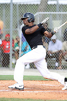 Terry McClure, #9 of Riverwood International High School, Georgia playing for the Team Elite during the WWBA World Champsionship 2012 at the Roger Dean Complex on October 27, 2012 in Jupiter, Florida. (Stacy Jo Grant/Four Seam Images)..