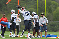 July 26, 2018: New England Patriots tight end Will Tye (82) makes a one handed catch at the New England Patriots training camp held on the practice fields at Gillette Stadium, in Foxborough, Massachusetts. Eric Canha/CSM