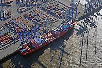 Cap Harriet der Reederei Hamburg Sued am Burchardkai: EUROPA, DEUTSCHLAND, HAMBURG, (EUROPE, GERMANY), 15.03.2016 Cap Harriet der Reederei Hamburg Sued am Burchardkaibeladen und entladen.