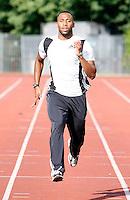 Haringey athlete Luke Fagan in training..New River Stadium, July 12, 2010.