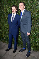 Edgar Wright and Simon Pegg<br /> arriving for the 2018 Charles Finch & CHANEL Pre-Bafta party, Mark's Club Mayfair, London<br /> <br /> <br /> ©Ash Knotek  D3380  17/02/2018