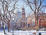 Arlington Church at the Boston Public Garden, Boston, MA, USA