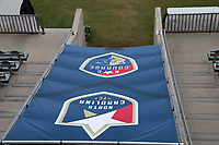 Cary, North Carolina  - Wednesday May 24, 2017: View of the player tunnel from the east stand broadcast platform of Sahlen's Stadium prior to a regular season National Women's Soccer League (NWSL) match between the North Carolina Courage and the Sky Blue FC at Sahlen's Stadium at WakeMed Soccer Park. The Courage won the game 2-0.