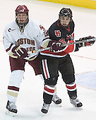 Tim Filangieri, Rob Rassey - The Boston College Eagles defeated Northeastern University Huskies 5-3 on Saturday, November 19, 2005, at Kelley Rink in Conte Forum at Chestnut Hill, MA.