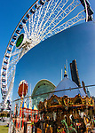 The Ferris wheel at Chicago's Navy Pier is reflected in a mirrored piece of artwork. (DePaul University/Jamie Moncrief)
