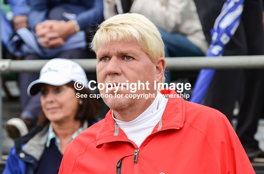 John Daly, professional golfer, USA. 201206270269. Photo taken 27th June 2012 on the first tee, Pro-Am competition, Irish Open Championship, Royal Portrush Golf Club, N Ireland...© Victor Patterson, 54 Dorchester Park, Belfast, N Ireland. Tel: +44 2890661296; Mobile: +44 7802 353836; Emails: victorpatterson@me.com & victorpatterson@gmail.com; www.victorpatterson.com