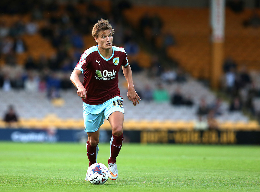 Burnley's Jelle Vossen<br /> <br /> Photographer Stephen White/CameraSport<br /> <br /> Football - Capital One Cup First Round - Port Vale v Burnley - Tuesday 11th August 2015 - Vale Park<br />  <br /> &copy; CameraSport - 43 Linden Ave. Countesthorpe. Leicester. England. LE8 5PG - Tel: +44 (0) 116 277 4147 - admin@camerasport.com - www.camerasport.com