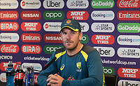 Aaron Finch (Australia) takes questions during a Press Conference at Edgbaston Stadium on 10th July 2019