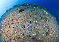 RJ41883-D. The Rio de Janeiro Maru was a 461 foot long submarine tender (originally a deluxe eight deck passenger liner) sunk by US 1000 pound bombs on February 17, 1944 during the first phase of Operation Hailstone. Truk (Chuuk) Lagoon, Micronesia, Pacific Ocean.<br /> Photo Copyright &copy; Brandon Cole. All rights reserved worldwide.  www.brandoncole.com