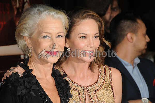 "27 October 2015 - Beverly Hills, California - Helen Mirren, Diane Lane. ""Trumbo"" Los Angeles Premiere held at the AMPAS Samuel Goldwyn Theater. Photo Credit: Byron Purvis/AdMedia"