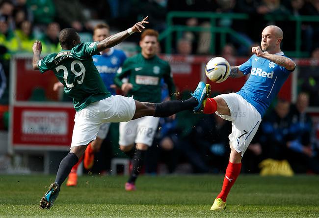 Franck Dja Djedje clashes studs with Nicky Law