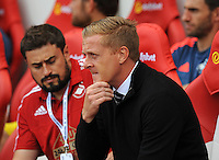 Garry Monk manager of Swansea City during the Barclays Premier League match between Sunderland and Swansea City played at Stadium of Light, Sunderland
