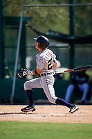 Detroit Tigers Cole Peterson (21) at bat during an Instructional League game against the Atlanta Braves on October 10, 2017 at the ESPN Wide World of Sports Complex in Orlando, Florida.  (Mike Janes/Four Seam Images)