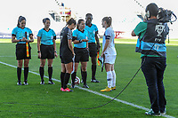 20200310 Faro , Portugal : the toss pictured before the female football game between the national teams of New Zealand and Norway on the third matchday of the Algarve Cup 2020 , a prestigious friendly womensoccer tournament in Portugal , on Tuesday 10 th March 2020 in Faro , Portugal . PHOTO SPORTPIX.BE | STIJN AUDOOREN