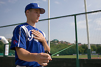 BASEBALL - GREEN ROLLER PARK - PRAGUE (CZECH REPUBLIC) - 25/06/2008 - PHOTO: CHRISTOPHE ELISE.GREGORY CROS  (TEAM FRANCE)