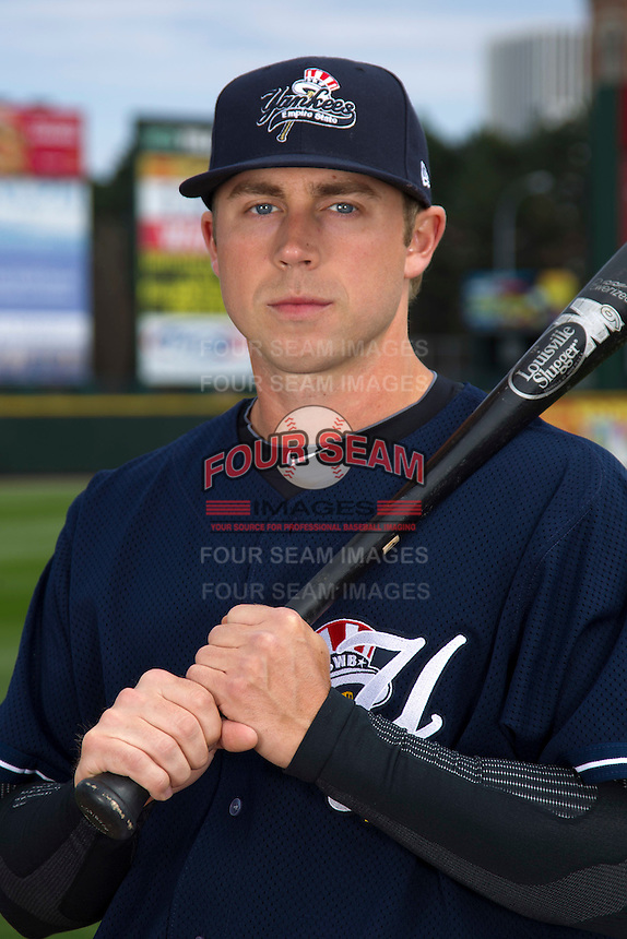 Scranton Wilkes-Barre Yankees outfielder Colin Curtis poses for a photo during media day at Frontier Field on April 3, 2012 in Rochester, New York.  (Mike Janes/Four Seam Images)
