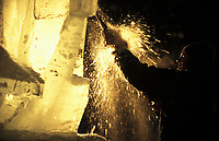 Ice sculptor, World Ice Sculpting Championships, Fairbanks, Alaska