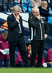 Roy Hodgson manager of Crystal Palace and assistant Ray Lewington look on during the premier league match at the Etihad Stadium, Manchester. Picture date 22nd September 2017. Picture credit should read: Simon Bellis/Sportimage
