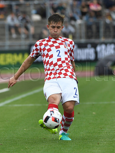 12.07.2016. Donaustadion, Ulm, Germany.  Croatia's Matej Hudecek in action during the UEFA Under-19 European Championship group B match between Croatia and The Netherlands, at the Donaustadion, in Ulm, Germany, 12 July 2016.
