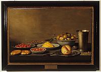 Europe/France/Auverne/63/Puy-de-Dôme/Riom: Le musée Mandet - Nature morte - fruits (XVIIème siècle/Ecole hollandaise)
