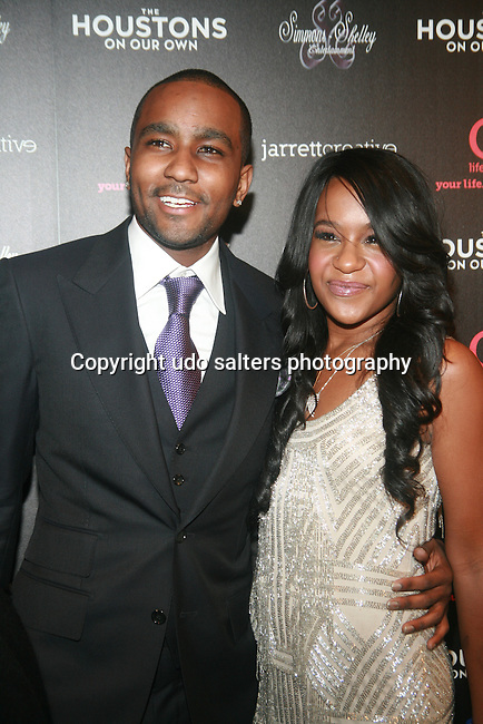 Nick Gordon and Bobbi Kristina Brown Attend The Houstons: On Our Own premiere party celebrating the launch of the new Lifetime docuseries held at Tribeca Grand Hotel, NY   10/22/12