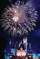 Firework Display, Cinderella Castle, iconic, fairy-tale fortress, Fantasyland,  Magic Kingdom, theme park, Disneyland,