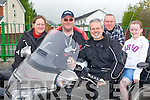 HONDA FUN: Having great fun at the Dingle 100 Mile Honda 50 Run organised by the Kerry Stepthru Club at the Na Gaei clubhouse, Tralee on Sunday l-r: Deanne Staak, Liam Leahy, Con Cremin and John and Rachael Montgomery.