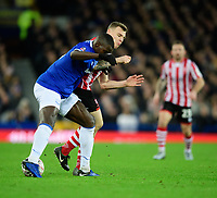 Lincoln City's Harry Anderson vies for possession with Everton's Kurt Zouma<br /> <br /> Photographer Chris Vaughan/CameraSport<br /> <br /> Emirates FA Cup Third Round - Everton v Lincoln City - Saturday 5th January 2019 - Goodison Park - Liverpool<br />  <br /> World Copyright &copy; 2019 CameraSport. All rights reserved. 43 Linden Ave. Countesthorpe. Leicester. England. LE8 5PG - Tel: +44 (0) 116 277 4147 - admin@camerasport.com - www.camerasport.com