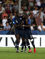 Football: Uefa under 21 Championship 2019, England - France, Dino Manuzzi stadium Cesena Italy on June18, 2019.<br /> France's Jonathan Ikoné (r) celebrates after scoring with his teammate Ibrahima Konaté (l) during the Uefa under 21 Championship 2019 football match between England and France at Dino Manuzzi stadium in Cesena, Italy on June18, 2019.<br /> UPDATE IMAGES PRESS/Isabella Bonotto