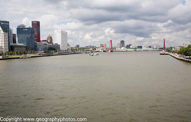 River Maas waterfront, Rotterdam, South Holland, Netherlands