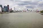 River Maas waterfront, Rotterdam, South Holland, Netherlands
