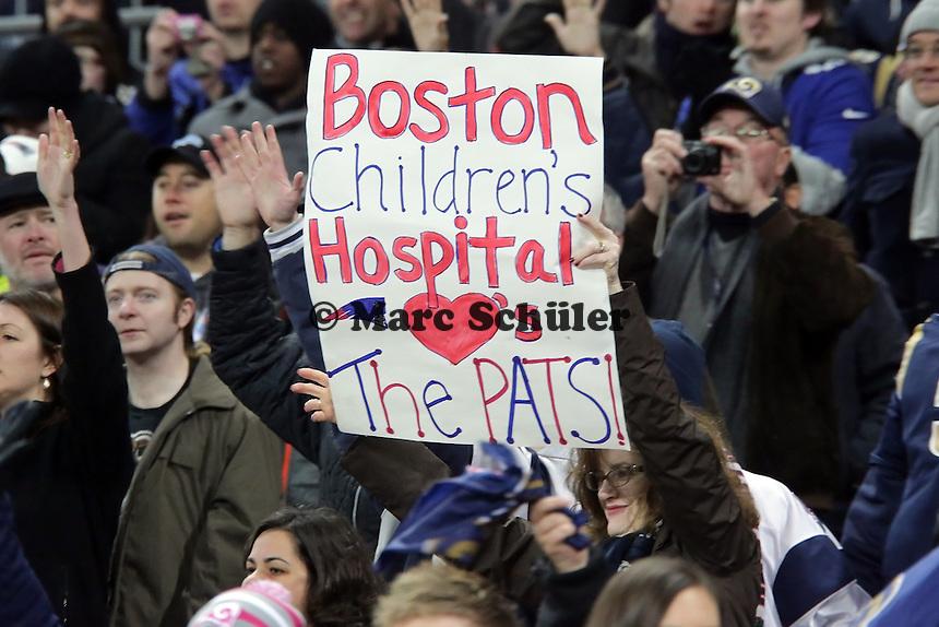 Fans aus Boston gruessen die Patriots