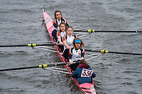 Crew: 336  Leys School BC  Event: Girls Fours<br /> <br /> Schools' Head of the River 2017<br /> <br /> To purchase this photo, or to see pricing information for Prints and Downloads, click the blue 'Add to Cart' button at the top-right of the page.
