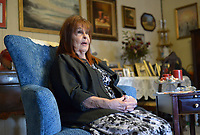 NWA Democrat-Gazette/ANDY SHUPE<br /> Mary Anne Erlinger of Springdale speaks Thursday, March 8, 2018, about a recent procedure that allowed her doctors to insert a coronary valve using a less invasive method.