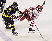 Michael Babcock (Merrimack - 19), Clayton Keller (BU - 19) - The visiting Merrimack College Warriors defeated the Boston University Terriers 4-1 to complete a regular season sweep on Friday, January 27, 2017, at Agganis Arena in Boston, Massachusetts.The visiting Merrimack College Warriors defeated the Boston University Terriers 4-1 to complete a regular season sweep on Friday, January 27, 2017, at Agganis Arena in Boston, Massachusetts.