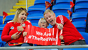 9th October 2017, Cardiff City Stadium, Cardiff, Wales; FIFA World Cup Qualification, Wales versus Republic of Ireland; Wales supporters soak up the atmosphere before kick off against Republic of Ireland