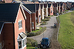 High density modern housing on greenfield site, Saxmundham, Suffolk, England
