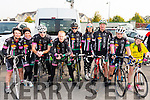 Teresa White, Ciara Mc Gowan, Colin House Mike O'Leary, Conor Kissane, Pauline Russell, Mike Kissane, Sarah Mc Grath and Lyra Mc Carthy from Killarney Cycling Club at the Meet and Greet with Nicolas Roche from Sky Team at the Killarney Racecourse last Sunday morning.