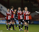 Players applaud the fans despite a setback during the English League One match at Bramall Lane Stadium, Sheffield. Picture date: November 29th, 2016. Pic Simon Bellis/Sportimage
