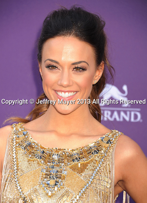 LAS VEGAS, NV- APRIL 07: Jana Kramer  arrives at the 48th Annual Academy of Country Music Awards at the MGM Grand Garden Arena on April 7, 2013 in Las Vegas, Nevada.