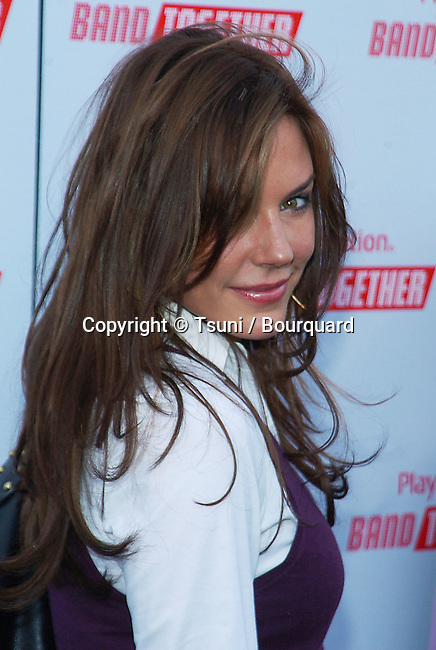 Krista Allen at the Bruce Willis Foundation presenting the Playstation BandTogether at the Smashbox Studio in Los Angeles. December 10, 2005.