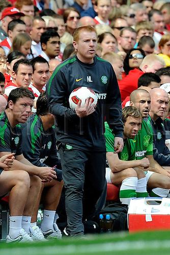 31.07.2010  2010 Emirates Cup Celtic Glasgow versus Olympique Lyon. Celtic Coach Neil Lennon