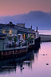Pre dawn light and fog at the Capitola waterfront, northern Monterey Bay Santa Cruz County, CALIFORNIA